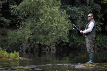 Fishing in Abergvenny